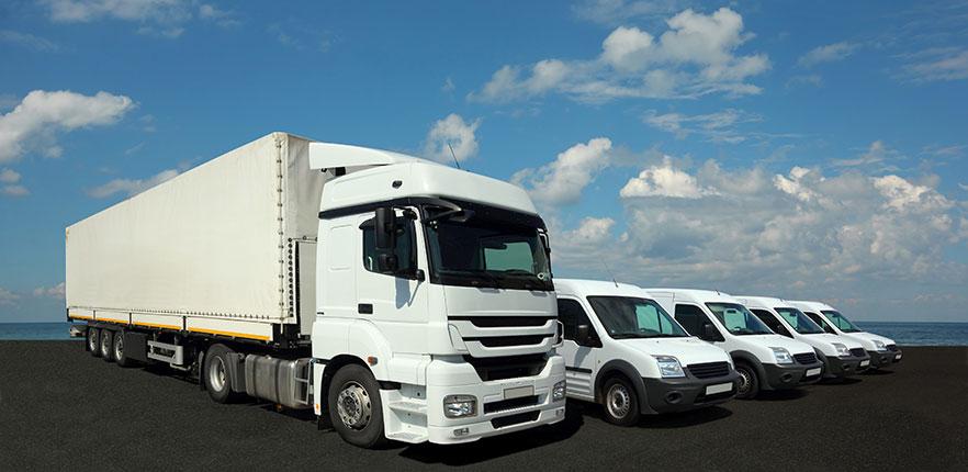 Frota de Veículos com Caminhão e Carros